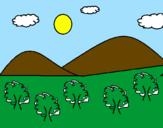 Coloriage  Montagne 4 colorié par anabel