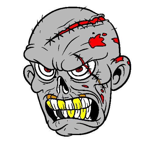 Dessin de zombie colorie par membre non inscrit le 02 de - Zombie dessin ...
