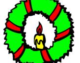 Coloriage Couronne de Noël II colorié par giampaolo boccardi