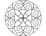 Coloriage Mandala 13 colorié par olfat