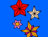 Coloriage Flocons de neige colorié par GABRIELA