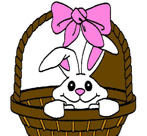 Dessin de petit lapin dans un panier colorie par membre non inscrit le 10 de d cembre de 2011 - Coloriage petit lapin ...