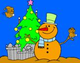 Coloriage Noël II colorié par GABRIELA