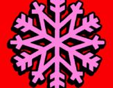 Coloriage Flocon de neige colorié par GABRIELA