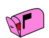 Coloriage Boîte à lettres colorié par Carmela Lomasto