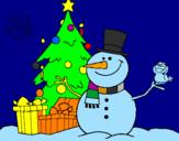 Coloriage Noël II colorié par THOMAS D