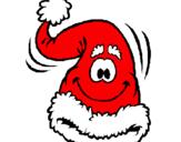 Coloriage Bonnet du Père Noël colorié par Gwendoline