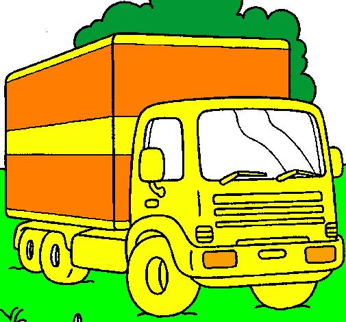 dessin de camion colorie par membre non inscrit le 14 de d cembre de 2011. Black Bedroom Furniture Sets. Home Design Ideas
