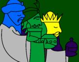 Coloriage Les rois mages 3 colorié par THOMAS D