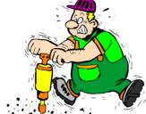 Coloriage Ouvrier colorié par jef