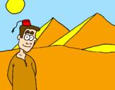 Coloriage Égypte colorié par kim :D