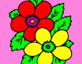 Coloriage Fleurs colorié par karolina