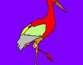 Coloriage Cigogne  colorié par rossisili