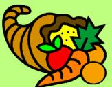 Coloriage Corne d'abondance colorié par kim :D