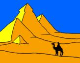 Coloriage Paysage de pyramides colorié par kim :D