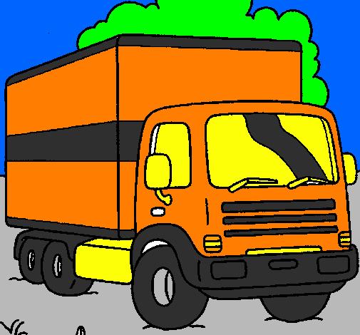 dessin de camion colorie par membre non inscrit le 19 de janvier de 2012. Black Bedroom Furniture Sets. Home Design Ideas