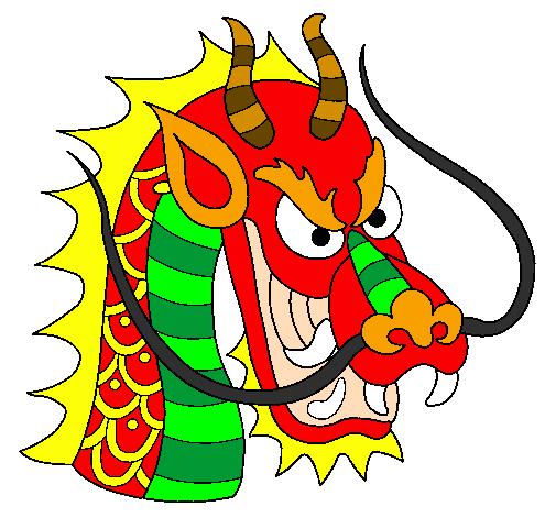 Dessin de t te de dragon colorie par membre non inscrit le 20 de janvier de 2012 - Dessin de tete de dragon ...