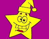 Coloriage étoile de noël colorié par matilde 5