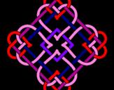 Coloriage Mandala 45 colorié par Lilian