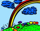 Coloriage Arc-en-ciel colorié par marina