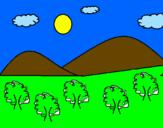 Coloriage  Montagne 4 colorié par wcd