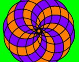 Coloriage Mandala 4 colorié par keetye