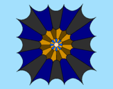 Coloriage Mandala 15 colorié par lilou