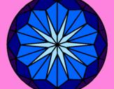 Coloriage Mandala 42 colorié par ikram