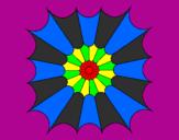 Coloriage Mandala 15 colorié par %u05DE%u05D0%u05D5%u05E8
