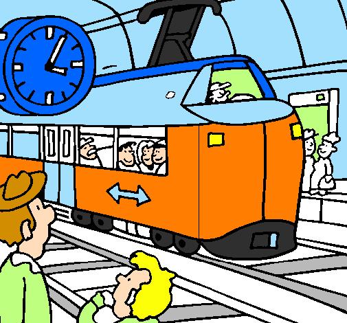 Dessin de gare de chemins de fer colorie par membre non inscrit le 30 de janvier de 2012 - Train en dessin ...