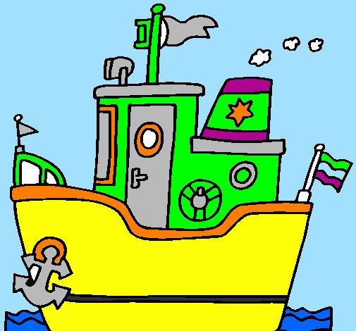 Dessin de bateau avec ancre colorie par membre non inscrit le 31 de janvier de 2012 - Dessin ancre bateau ...