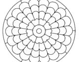 Coloriage Mandala 23 colorié par pual