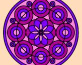 Coloriage Mandala 35 colorié par kim :D