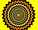 Coloriage Mandela 51 colorié par Emma