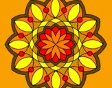Coloriage Mandala 20 colorié par kim :D