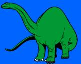 Coloriage Braquiosaure II colorié par justin