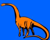 Coloriage Mamenchisaurus colorié par julieta va