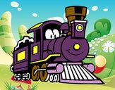 Coloriage Train drôle colorié par emanuel