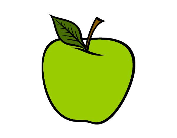 Dessin de une pomme verte colorie par titi2010 le 24 de f vrier de 2012 - Pommes dessin ...
