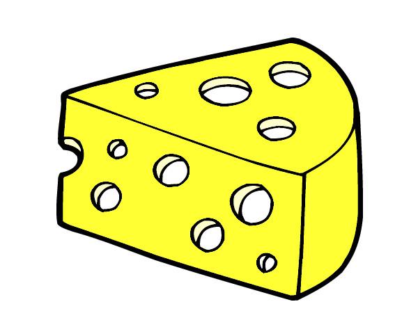 Dessin de Du fromage colorie par - 52.6KB