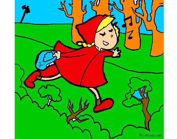 Dessin De Le Petit Chaperon Rouge Chante Colorie Par Nepheli Le 16