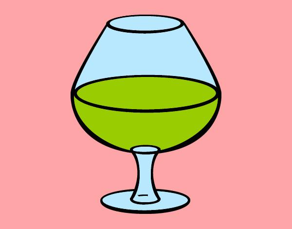 Dessin de le vin vert colorie par amanda le 01 de avril de - Verre coloriage ...