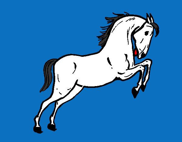 Dessin de cheval qui saute colorie par gusgus le 14 de juillet de 2012 - Coloriage cheval qui saute ...