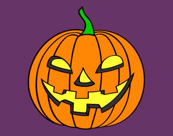 Dessin de citrouille mauvaise colorie par shwinzov le 13 - Citrouille halloween dessin ...