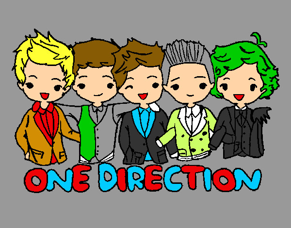 Coloriage One direction colorié par marine