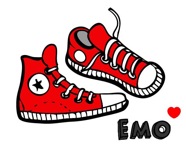 chaussure converse dessin