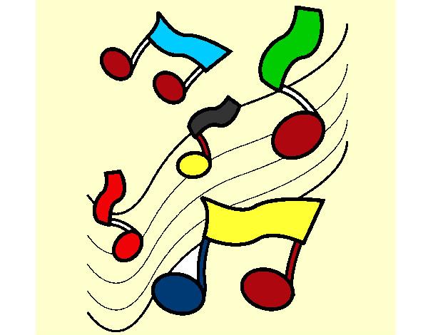 Dessin de music colorie par ilove1d le 26 de novembre de - Note musique dessin ...