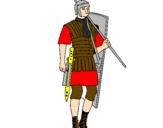 Coloriage Soldat romain colorié par anonyme