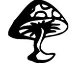 Coloriage Champignon vénéneux colorié par 4