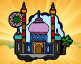 Coloriage Taj Mahal colorié par simonette